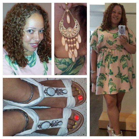 Dress - Target, Shoes - Easy Pickins Earrings - Forever21