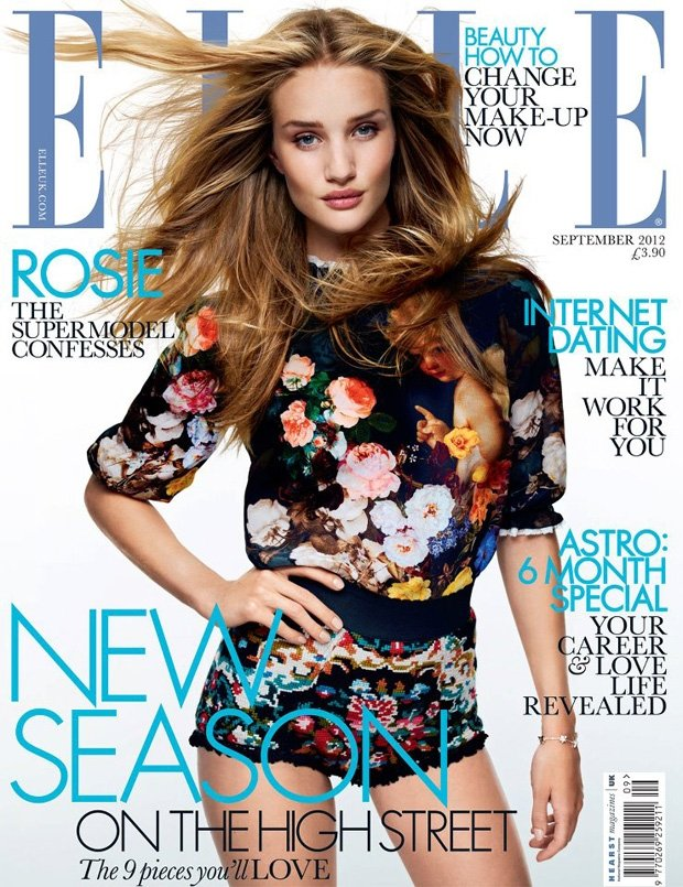 Rosie Huntington-Whiteley in Elle UK September 2012