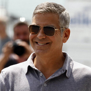George Clooney Filming Commercial in Italy Pictures