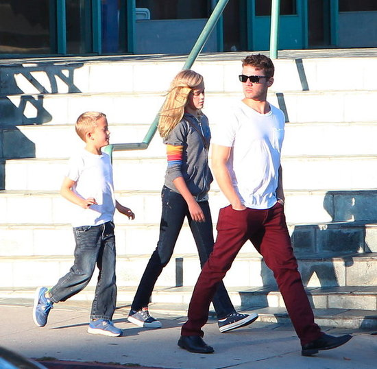Ryan Phillippe was out in LA with his kids Ava and Deacon.