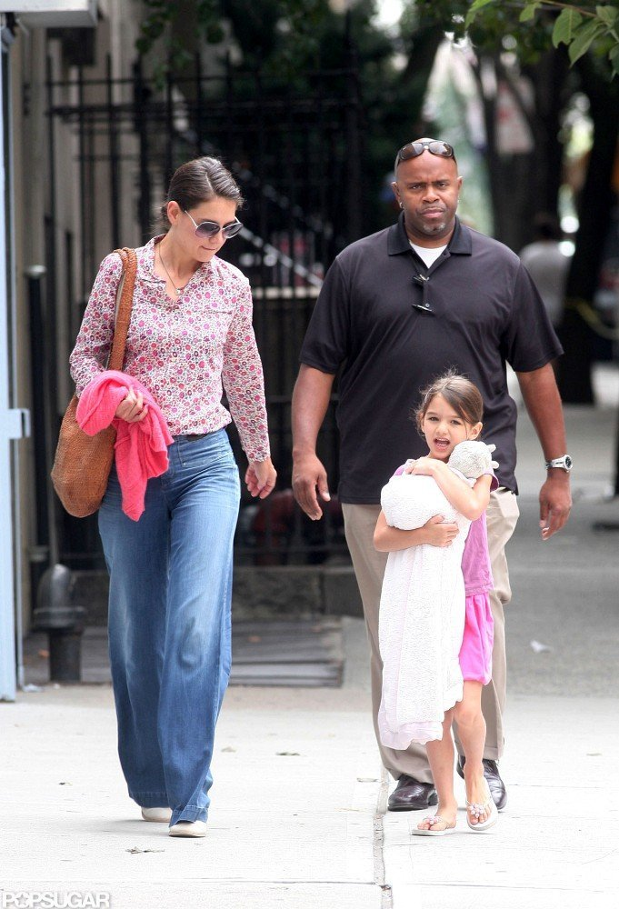 Katie Holmes and Suri Cruise walked in NYC.