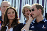 Prince William took a phone call.