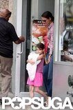 Katie Holmes and Suri Cruise got food.