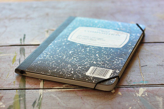 DIY Composition Notebook iPad Case