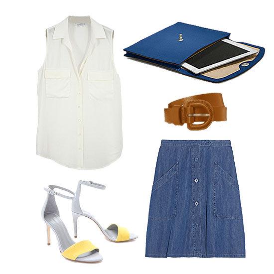 How to Wear a Denim Skirt