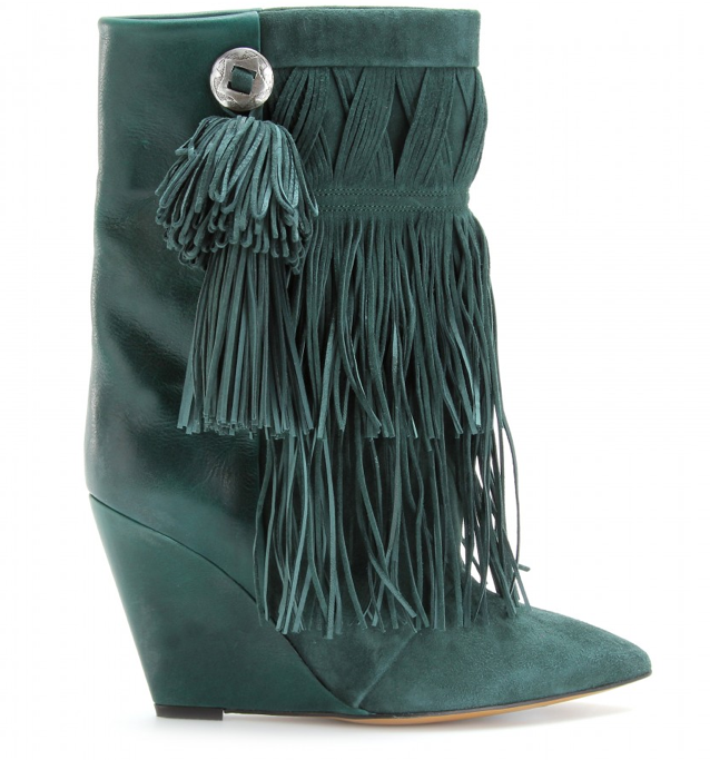 I'm dizzy for Izzy, Isabel Marant that is. My latest shoe crush from the famed Parisian designer are these Jacob Fringed Boots ($1,121). They're currently out of stock, but I'm patiently waiting for them to come back soon . . . — Chi Diem Chau, associate editor