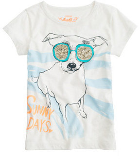 J.Crew Girl's Bow-Wow Bling Tee ($20)
