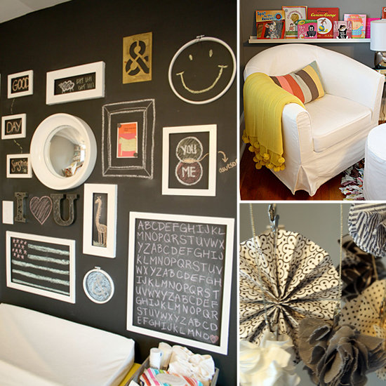 A Mod Nursery With the Coolest Chalkboard Gallery Wall Ever!