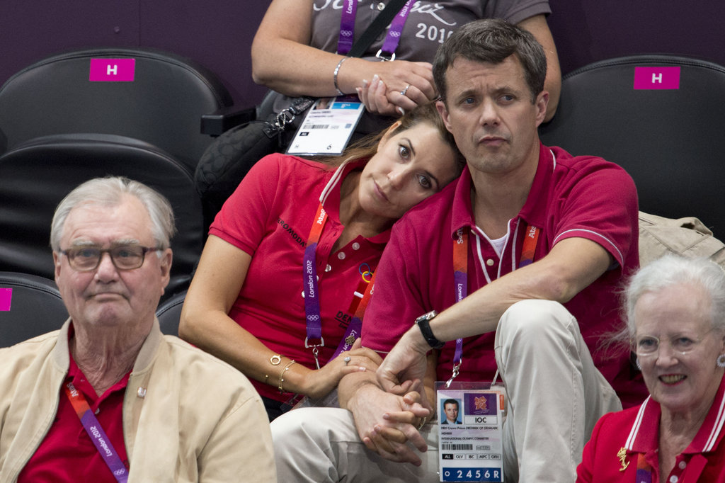 Princess Mary Cuddles Up to Prince Frederik During the Olympics