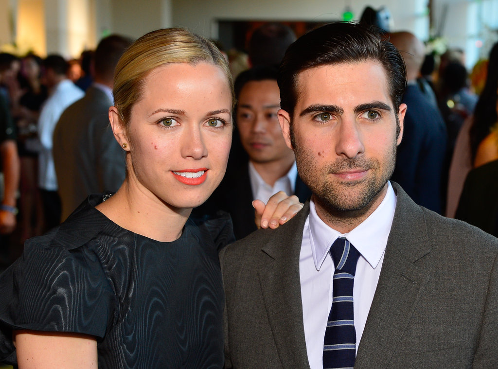 Jason Schwartzman smiled with wife Brady Cunningham at an event in San Francisco, CA.