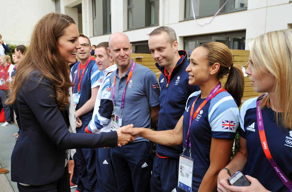 Kate met with Great Britain's athletes.