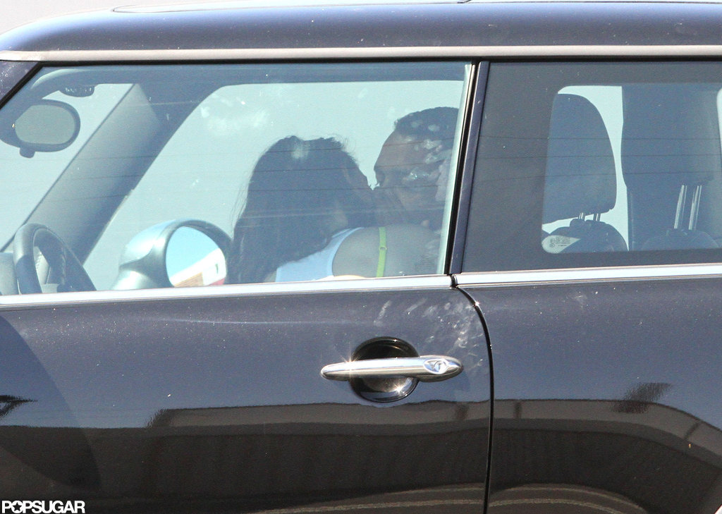 Kristen Stewart and Rupert Sanders kissed in her Mini Cooper.