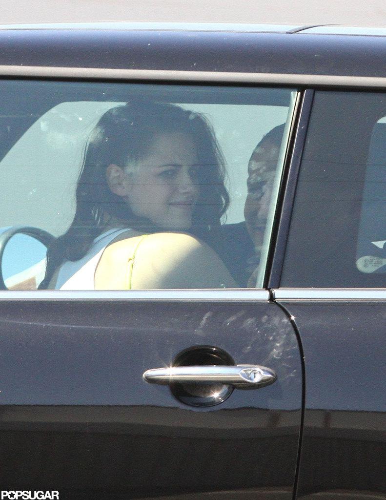 Kristen Stewart smiled.