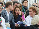 Prince William, Kate Middleton, and Prince Harry enjoyed each other's company on day four of the London Games.