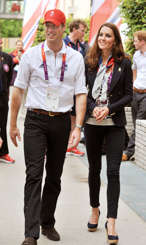 The duke and duchess were spirited as they visited the Olympic Park.