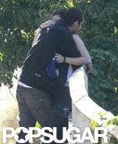 Kristen Stewart and Rupert Sanders hugged.