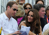 Kate Middleton kept her eyes on husband Prince William.