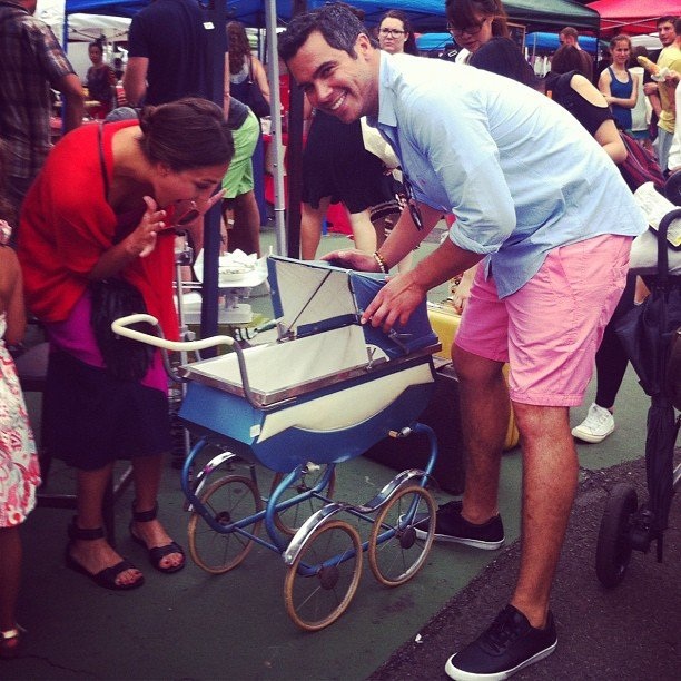 Jessica Alba and Cash Warren hit the flea market together. Source: Instagram user cash_warren