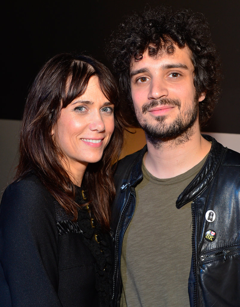Kristen Wiig and Fabrizio Moretti stuck close together at the Lexus art exhibit.