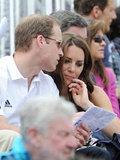 Prince William and Kate Middleton checked out the Olympics program.