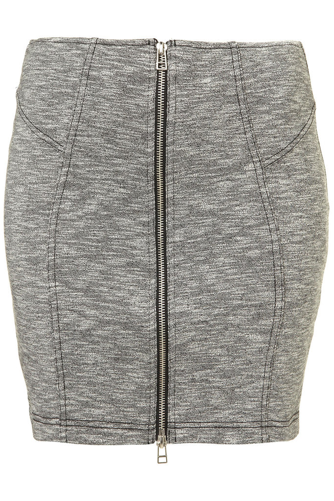 Another signature detail of the sportif trend is an exposed zipper. This skirt would work really well with a cool blouse and blazer. Topshop Zip-Front Jersey Skirt ($50)