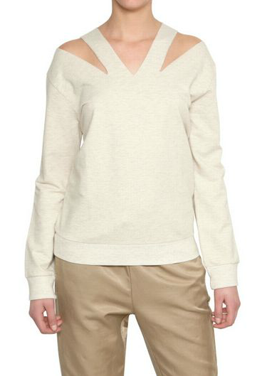 The neckline on this pullover gives it enough of the sexy factor that you could pull this one out for date night. Mm6 Di M.m.margiela Cut Out V-Neck Fleece Sweatshirt ($208)