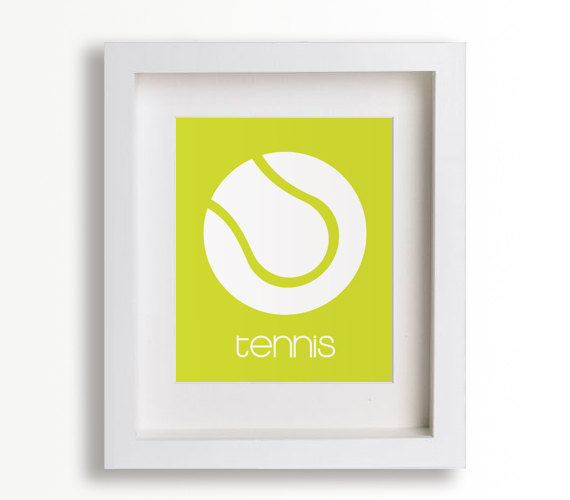 Baby's First Tennis Print ($15)