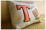 Football Lovers Custom Nursery Pillow ($30)