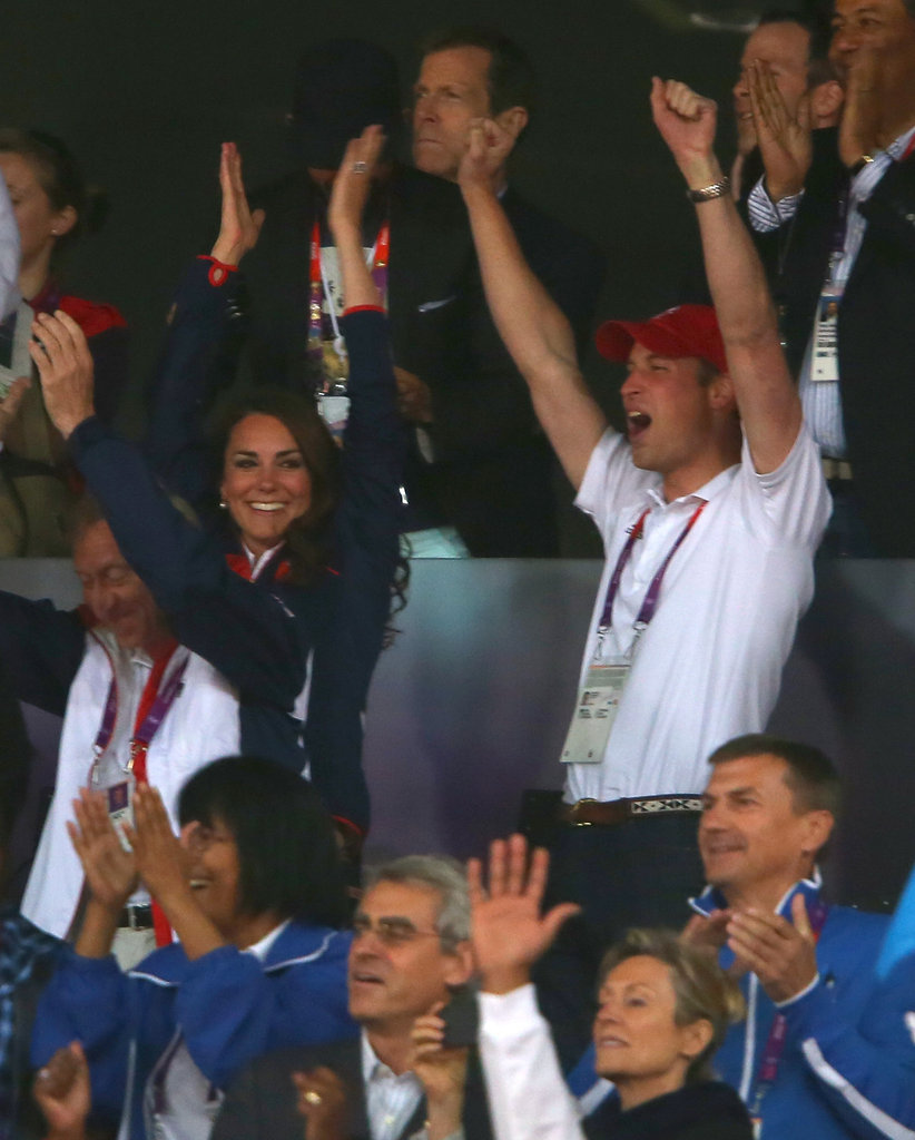 Prince William and Kate Middleton cheered on athletes on day eight.