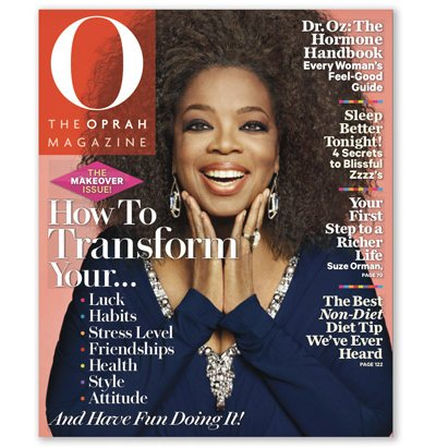 Oprah's Natural Hair on O Magazine September 2012 Cover