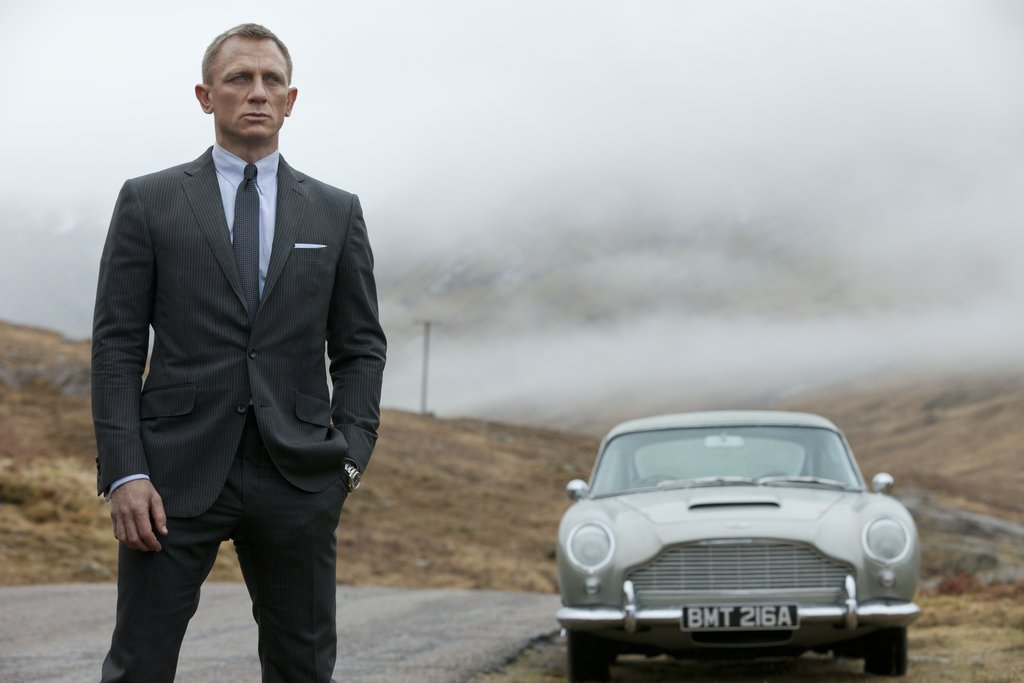 Daniel Craig fills in James Bond's slick shoes for a third time in Skyfall.