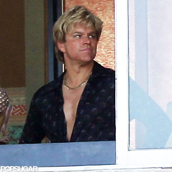 Matt Damon Flaunts His Waxed Chest