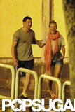Michael Bublé and wife Luisana Lopilato took a walk after dinner in Rome.