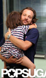 Peter Sarsgaard squeezed daughter Ramona tight.