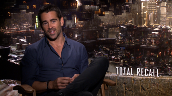 "Colin Farrell on Why He ""Was Hating"" His Total Recall Kiss With Kate Beckinsale"
