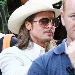 Brad Pitt Wearing Cowboy Gear | Pictures
