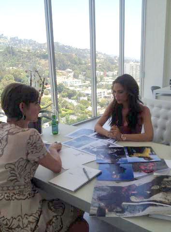 Victoria Beckham edited parts of her issue with Glamour magazine with editor Cindi Leive. Source: Twitter user victoriabeckham