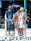 Michael Sheen pushed a grocery cart outside Whole Foods.