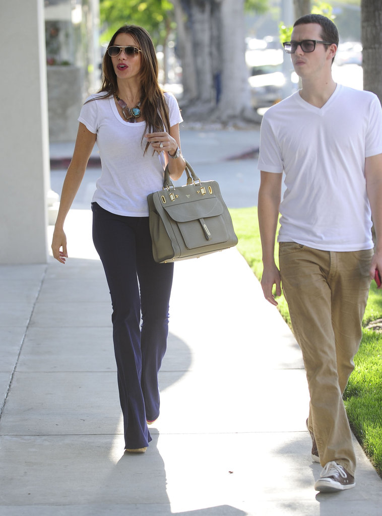 Sofia Vergara went shopping with a friend in LA.