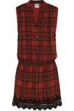 A silk tartan dress is the grown-up version of the classic schoolgirl skirt. Haute Hippie Plaid Silk-Chiffon Mini Dress ($425)