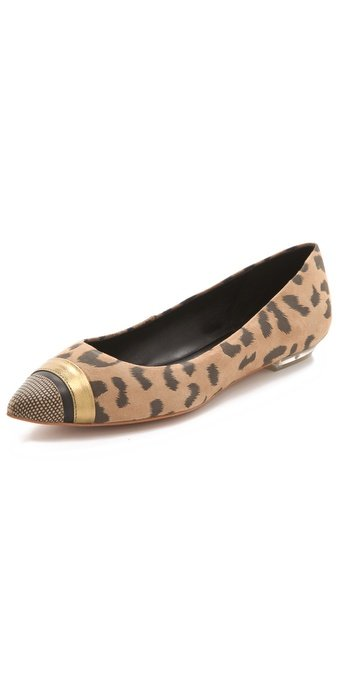 Pointed-toe flats in a subtle leopard print? We'd head to class in these for sure. Rebecca Taylor Lola Pointy Toe Flats ($245)
