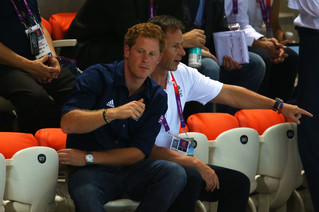 Prince Harry made an appearance at the Aquatics Centre.