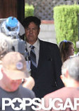Dan Aykroyd wore a suit and tie to play Seymour Heller in the new film Behind the Candelabra.