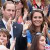 Kate Middleton and Prince William Pictures Doing the Wave at 2012 London Olympics