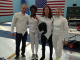 Shaun White and John McEnroe tried their hands at fencing. Source: Twitter user shaun_white