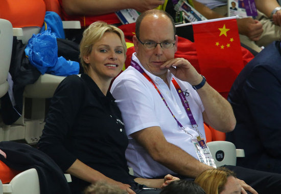 Prince Albert and Princess Charlene cheered in the stands at the Olympics.