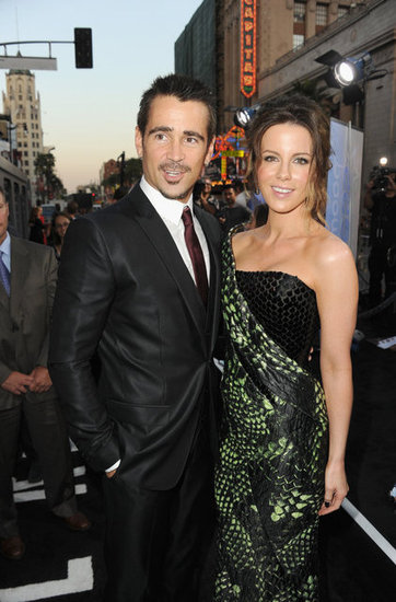 Kate Beckinsale posed with Colin Farrell at the Total Recall premiere in LA.
