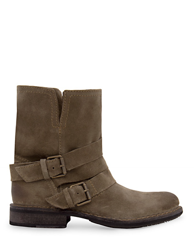 The potentially muddy conditions are not conducive to open-toe shoes. These rugged boots are the perfect substitute — doesn't it look like something Kate Moss would wear to the Glastonbury music fest?  Mango Suede Ankle Boot ($150)