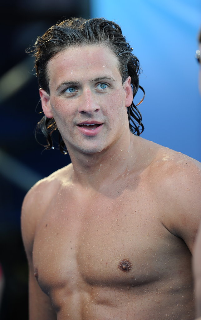 Ryan Lochte wore long locks in 2010.