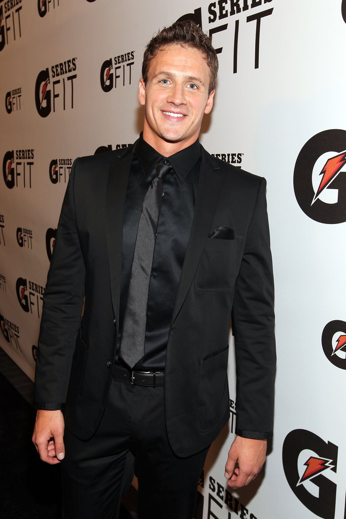 Ryan stunned in an all-black suit at the Gatorade Launch Event in April 2011.